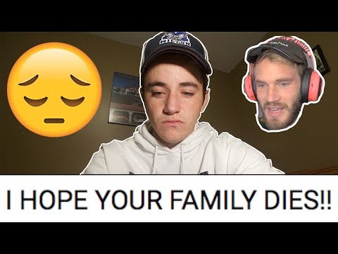 Reacting to BRUTAL HATE from PewDiePie Fans! (Deeath Threats)