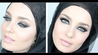 Eid Makeup: Gold & Purple Arabic Smokey Eye