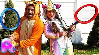 Anna vs Papa Playing badminton / Funny story