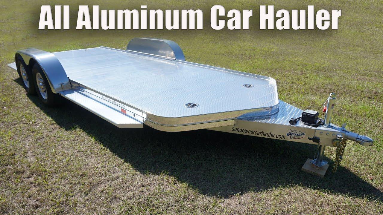All Aluminum Car Hauler - YouTube