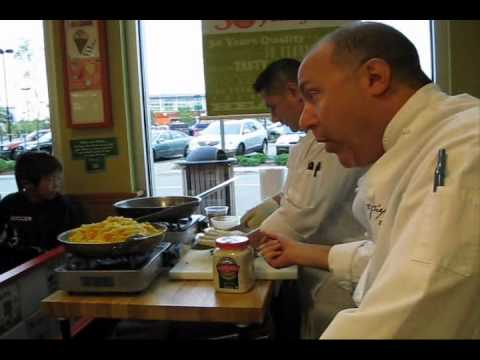 Chef Jim Solomon from The Fireplace cooks with kids at Dedham Whole Foods
