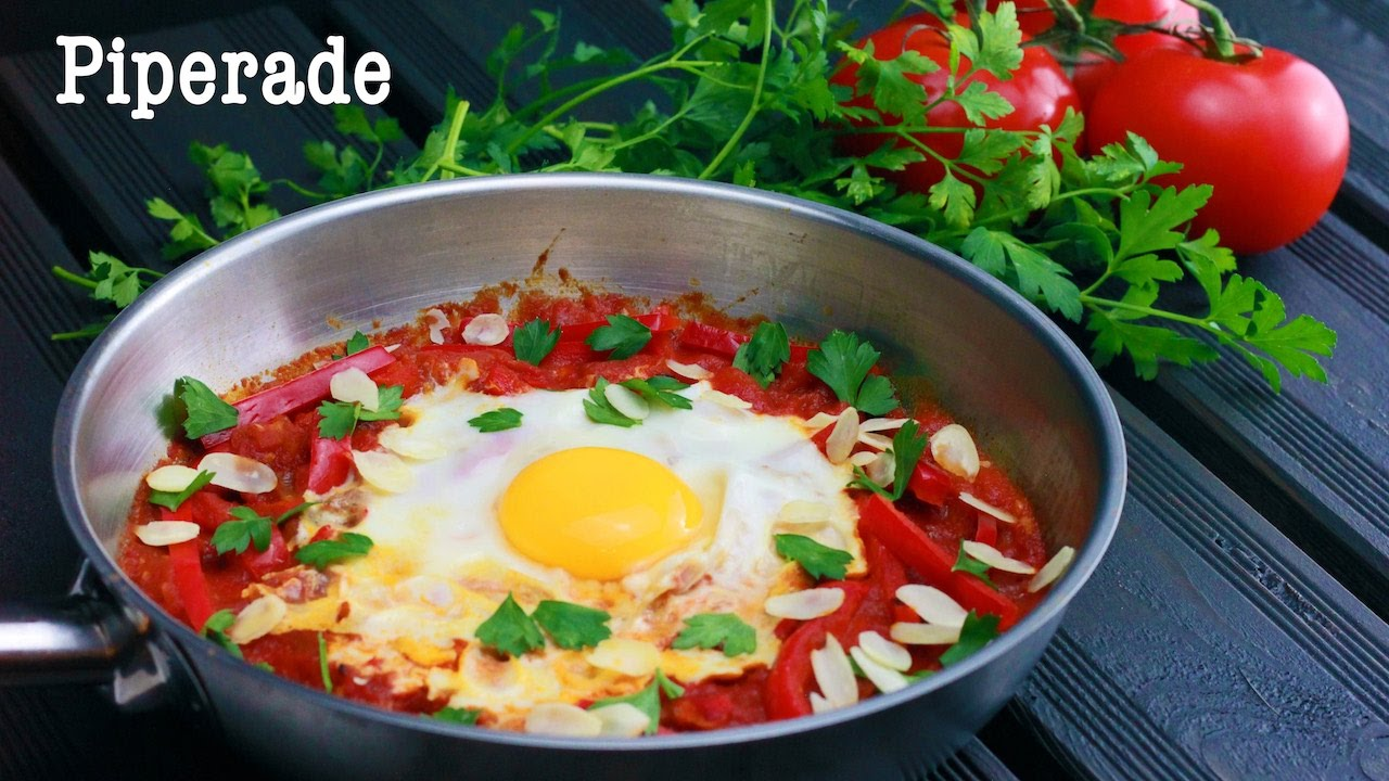 Piperade , Recette healthy facile