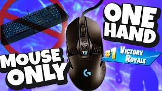 Winning with ONLY a mouse NO Keyboard! (Fortnite Battle Royale)