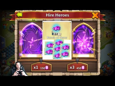 JT's Free 2 Play Hire Heroes & Win + EVENT Hero Cards Castle Clash