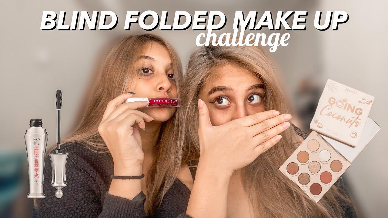MAKE UP SAMBIL TUTUP MATA CHALLENGE 😱😂