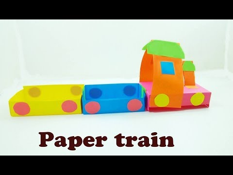Paper Craft Paper Train Craft For Kids Very Easy To Make For