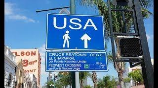 Como es CRUZAR la frontera USA - MEXICO a PIE   Explorando Tijuana