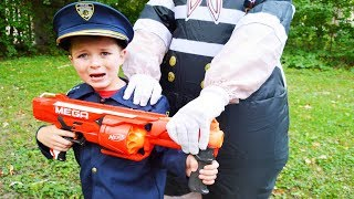 Halloween Silly Kid spooks Sketchy Mechanic featuring the Assistant silly funny kids video