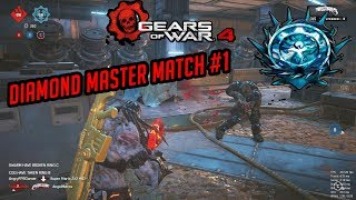Ranked Diamond Master Escalation Match #1   Gears Of War 4 Multiplayer Gameplay!