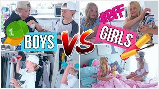 BOYS VS GIRLS BFF MORGENROUTINE SCHULE MaVie Back to school