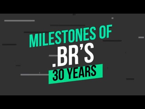 [.br's 30 years] The domain milestones