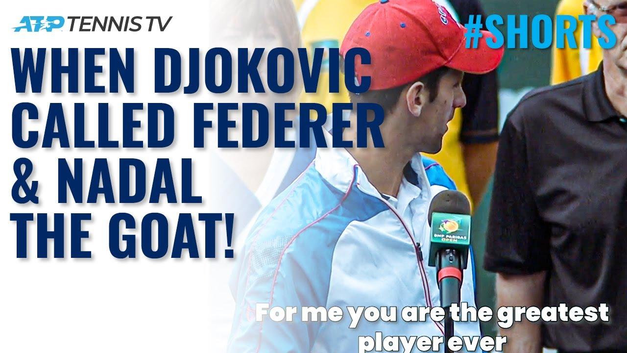When Novak Djokovic Called Roger Federer & Rafa Nadal The Greatest of All Time 😬 #Shorts