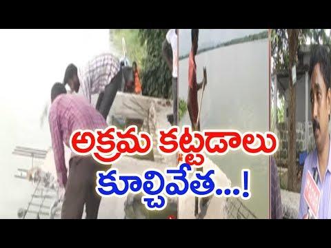 Andhra Pradesh: CRDA Notices To Demolish Illegal Construction On Krishna River | MAHAA NEWS