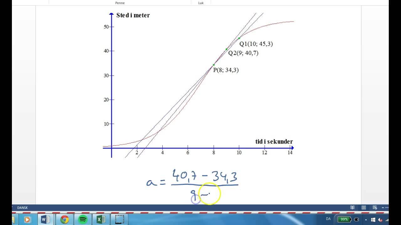 Differentialregning - Væksthastighed