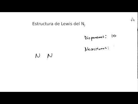 Estructura De Lewis Del Nitrogeno N2 Youtube