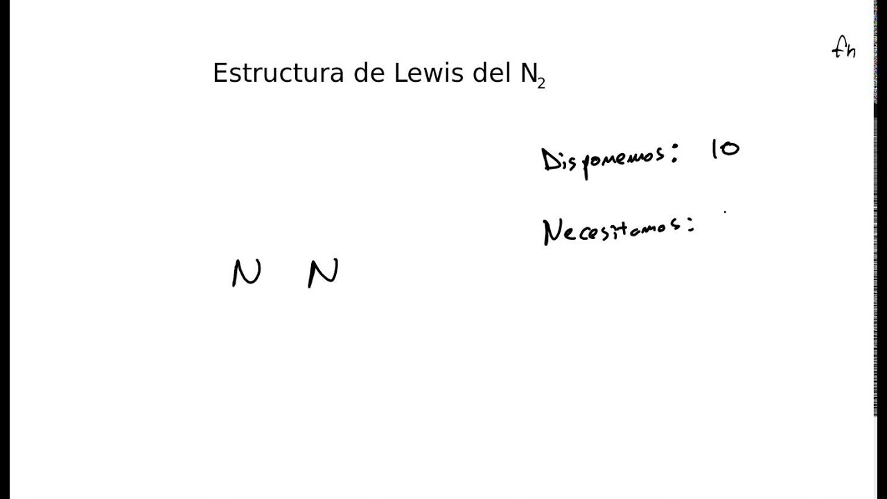 Estructura De Lewis Del Nitrogeno N2