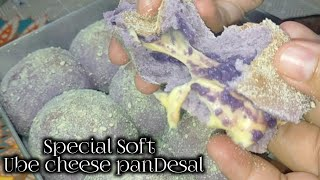 Special Ube cheese Pandesal ( real Ube filling w/ Melted cheese😋 )