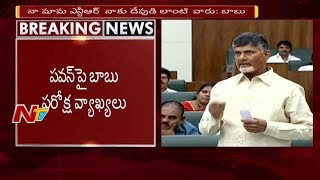 CM Chandrababu Naidu Satirical Comments on Pawan Kalyan || NTV
