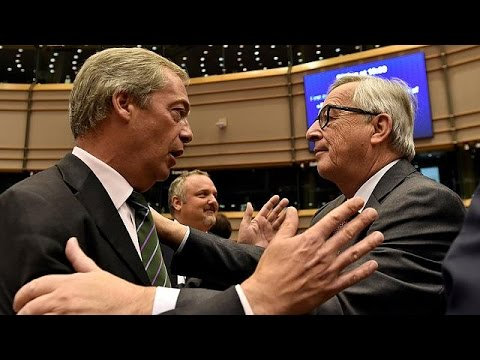 Brexit: bitter exchanges inside EU parliament