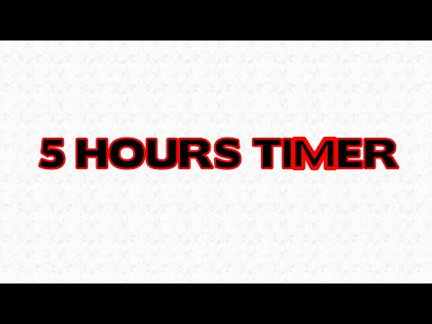 5 Hour Timer Countdown