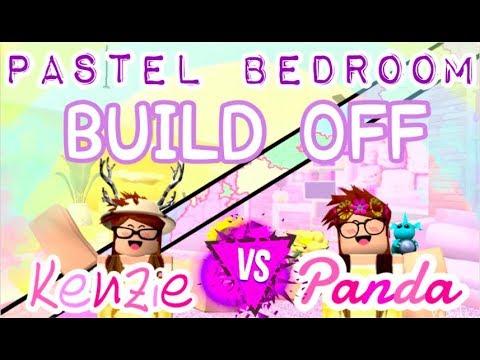 Pastel Bedroom BUILD OFF: Kenzie V.S. Panda (72k) & Mini Tag Game!