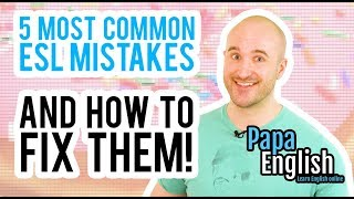 5 Most Common English Mistakes and How To Fix Them!