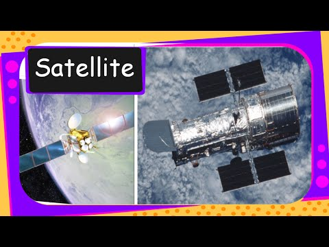 Science - How satellites stays in Space and What it does - English