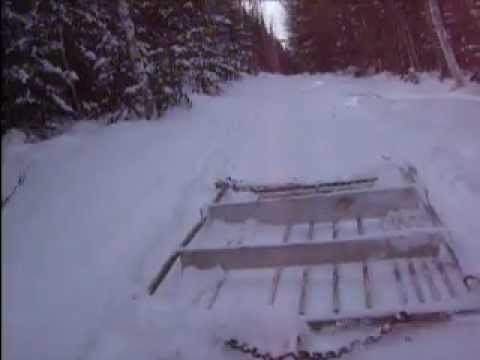 Home Made Trail Groomer Yamaha Bravo Youtube