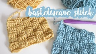 In this tutorial I show you how to crochet the basketweave stitch, which uses a combination of the front and back post stitch. Work to units of 4 or any even ...