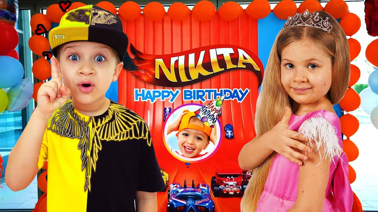 Diana and Roma Happy Birthday Niki! Kids Birthday party with Vlad and Niki