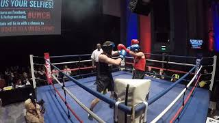 Ultra White Collar Boxing | London 15 12 18 R2 | Finn Thompson VS Francis McGowan