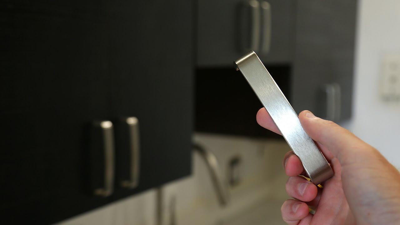 Install Kitchen Cabinet Door Handles Easy Diy Youtube