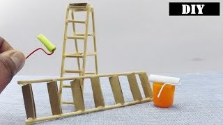 DIY Ladder Toy - Easy Miniature Furniture for Dollhouse