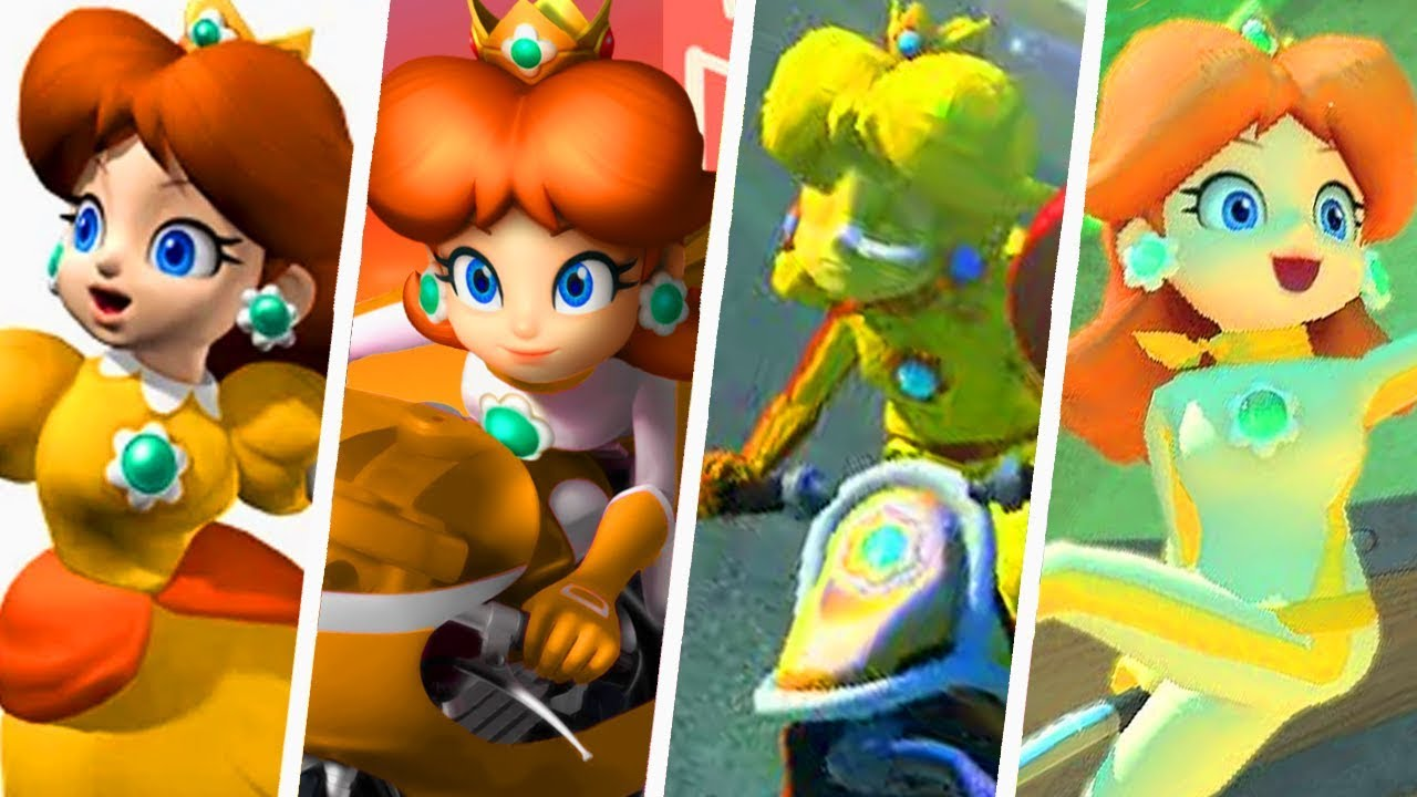 Evolution Of Princess Daisy In Mario Kart Games 2003 2018 Youtube