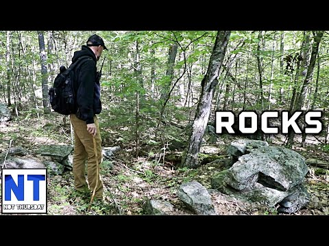 Lets go hiking & exploring the NH woods looking for the stacked rocks of past history