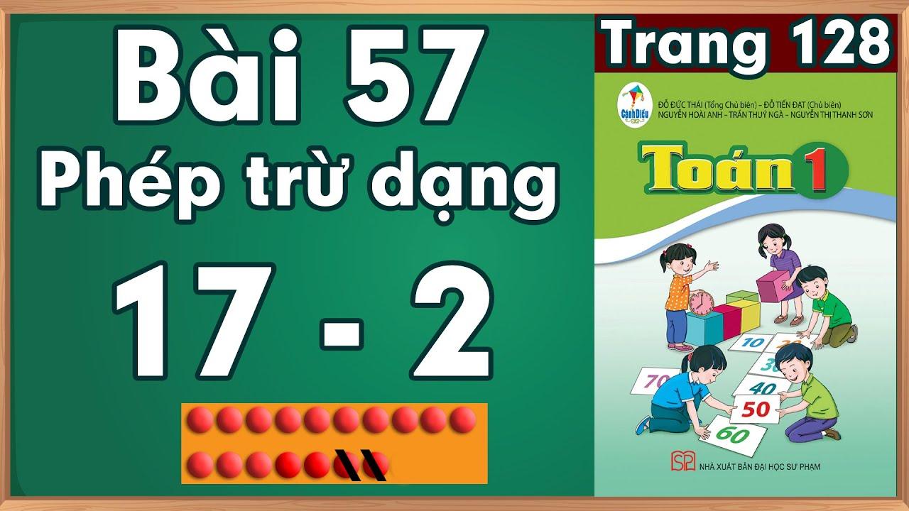 Học toán lớp 1  Phép trừ dạng 17 - 2  toán lớp 1