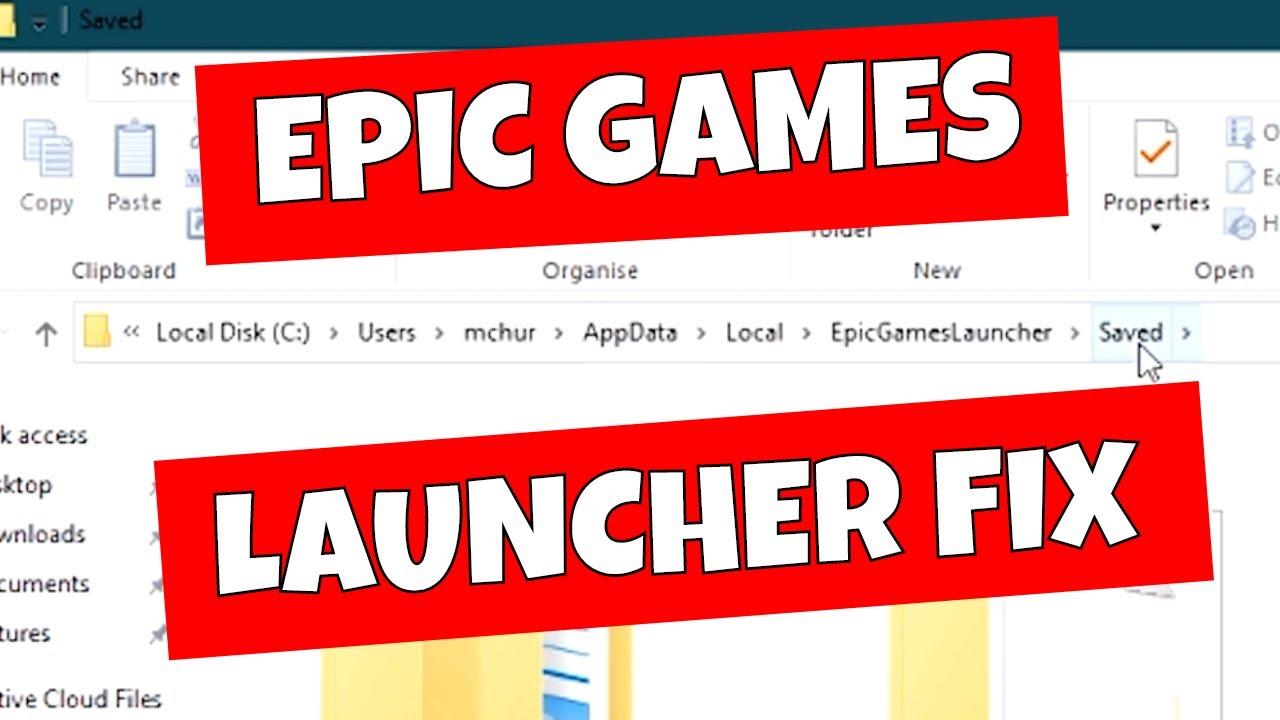 Fix Fortnite Epic Games Launcher White Screen Bug - YouTube