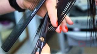 Стрижка горячими ножницами по технике Toni & Guy