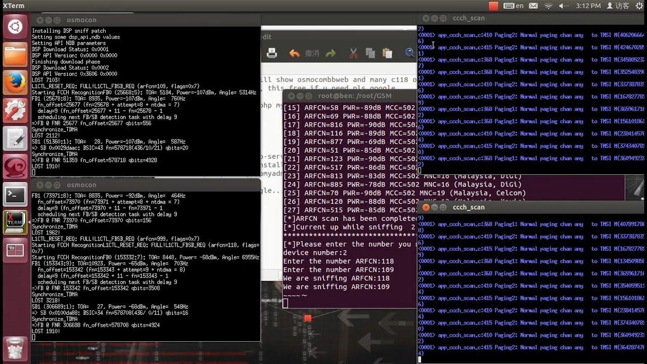 osmocombb-web-many c118 osmocom,SMS interception system
