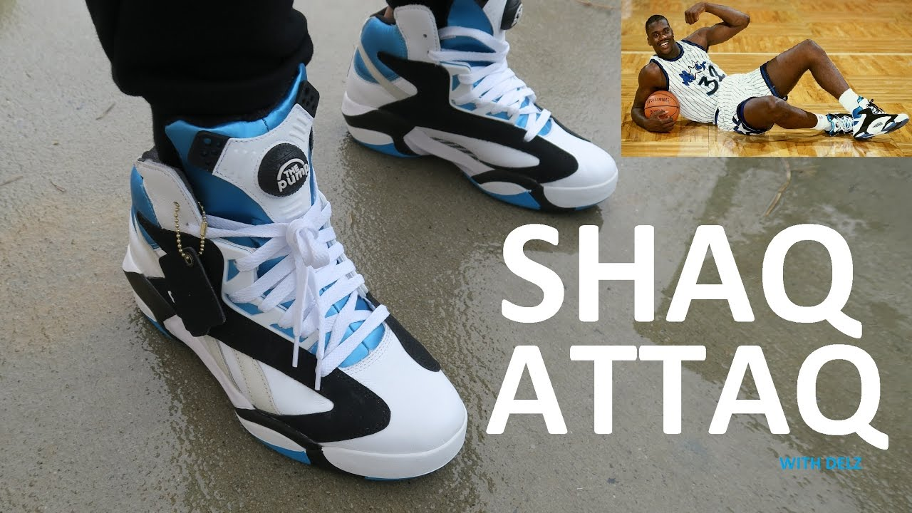5d48308b5ea1 REEBOK SHAQ ATTAQ SNEAKER ON FOOT REVIEW - YouTube