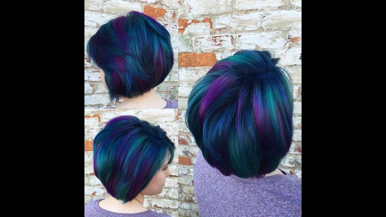 Vivid Hair Color Ideas On Super Short Hair Youtube