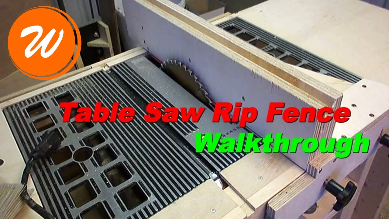Simple Table Saw Rip Fence Youtube
