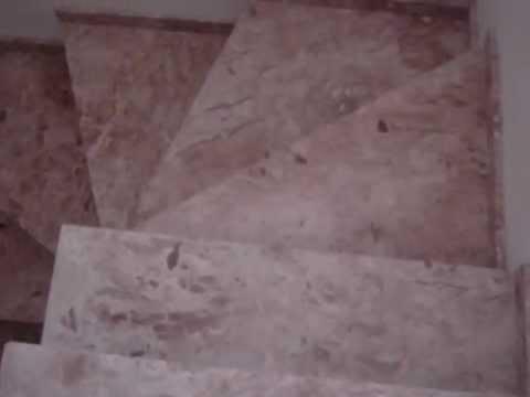 Escada em granito travertino nacional youtube - Granito nacional precio ...
