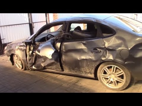 Старая Элантра. Body repair after an accident.