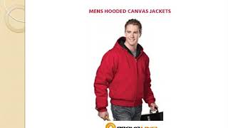 Custom Tri Mountan Men's Canvas Jackets With Hood | Promoline1