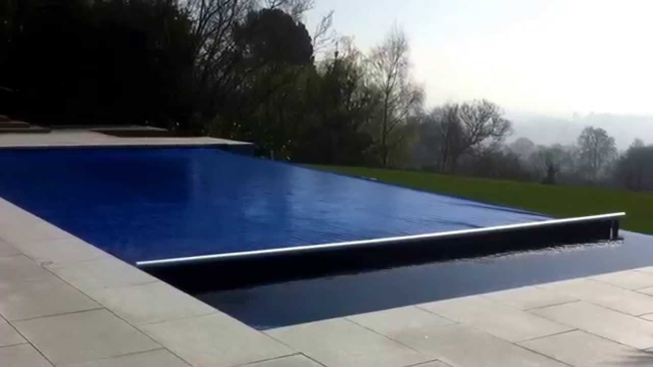 Aquamatic safety cover Infinity Edge - YouTube