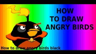 Angry Birds Space - How To Draw Space Black Birds