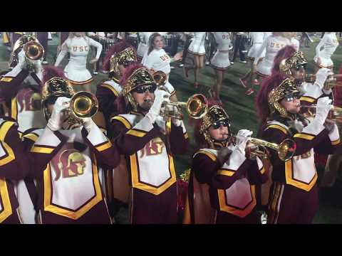 USC marching band post-game celebration after their win over Utah! October 14, 2017
