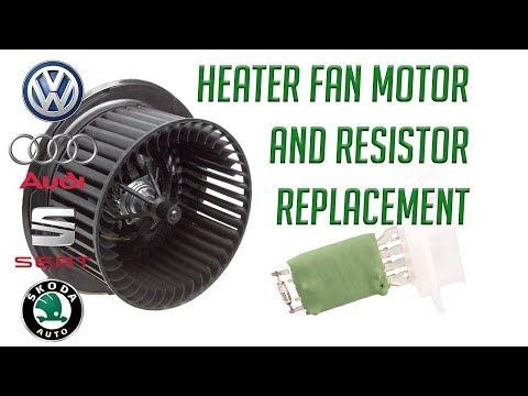 How To replace fan blower heater motor and resistor Volkswagen VW