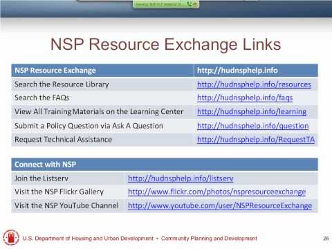NSP2 Grantees and Revolving Loan Funds Webinar - 8/21/12